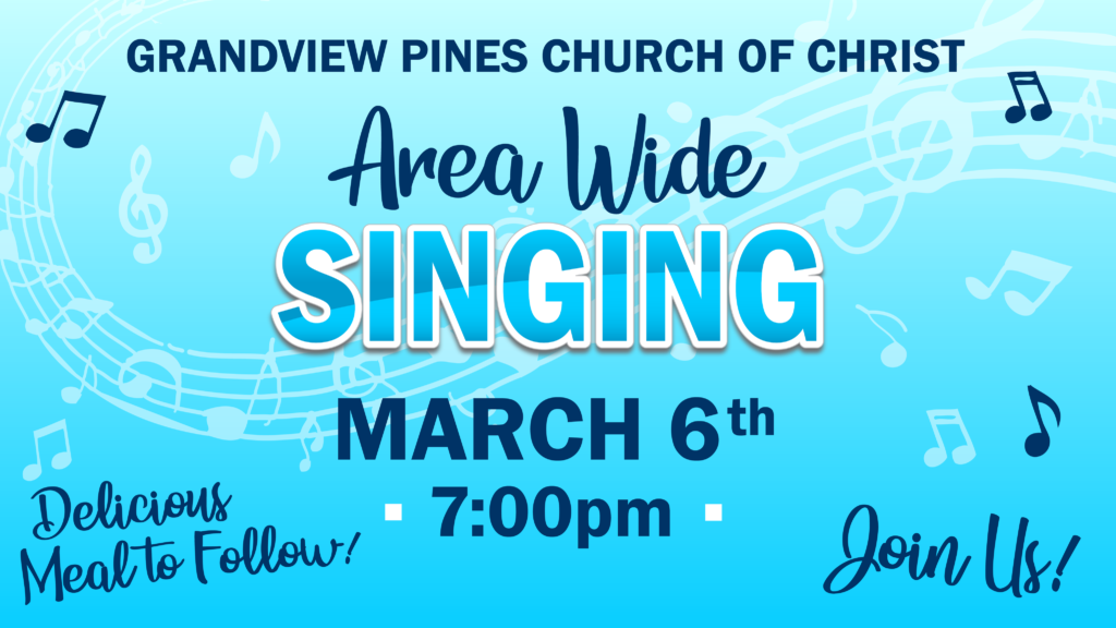 Area Wide Singing March 6th 2020 7pm