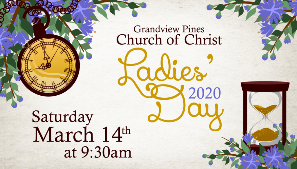 Ladies' Day March 14, 2020 at 9:30am